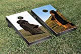 Victory Tailgate Easter Island Themed Cornhole Game Set