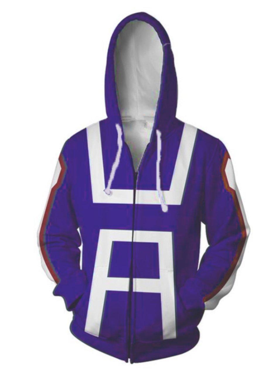 P-LINK Women's Hero Academia Gymnastics Hoodie Cosplay Costume Sweatshirt Jacket (L)