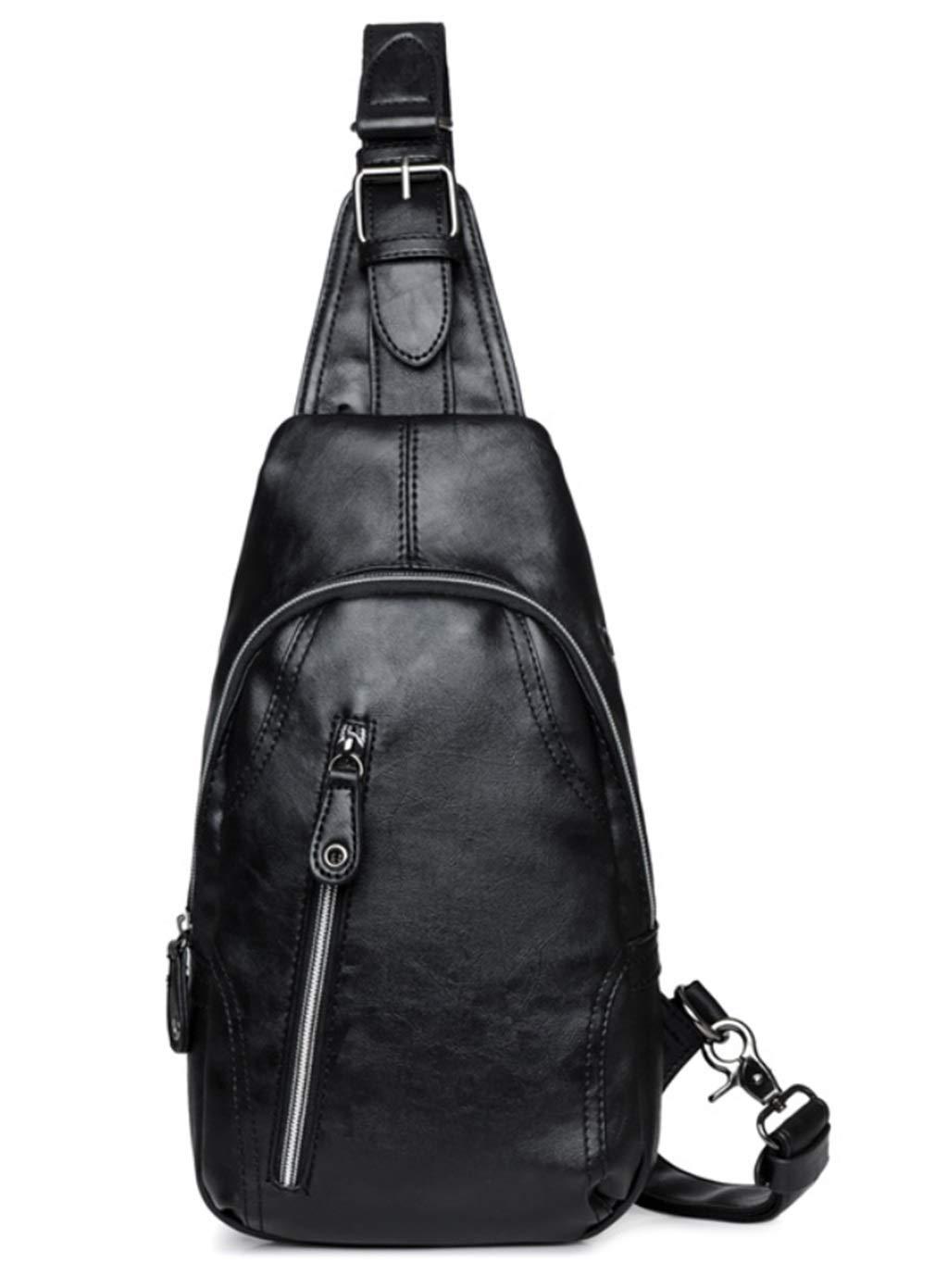 RSQJ Male Chest Bag Waterproof Wearable Shoulder Bag Small Diagonal Bag (Size : 16532cm)