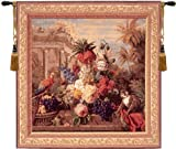 Tapestry, Extra Large, Tall - Elegant, Fine, French & Wall Hanging - Bouquet Exotique with Monkey 9048, H58xW58