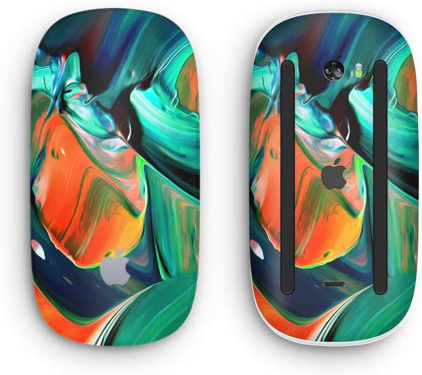 Design Skinz Premium Vinyl Decal for The Apple Magic Mouse 2 Wireless, Rechargable Blurred Abstract Flow V47 with Multi-Touch Surface