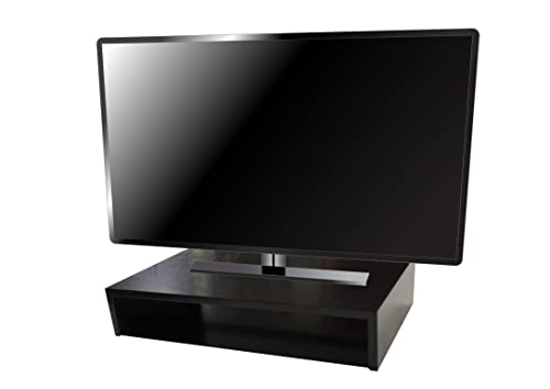 SoCalVS Tabletop TV Stand 25 W x 14 D x 5 H Satin Black RIZERvue Up to 32 Diagonal No Assembly Required
