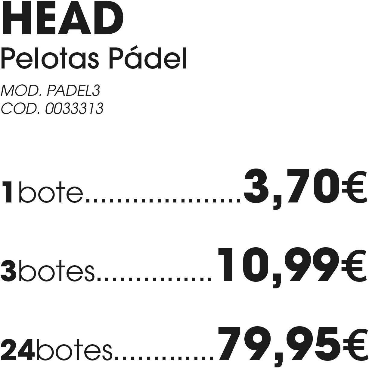 Tubo Pelotas Pádel HEAD: Amazon.es: Deportes y aire libre