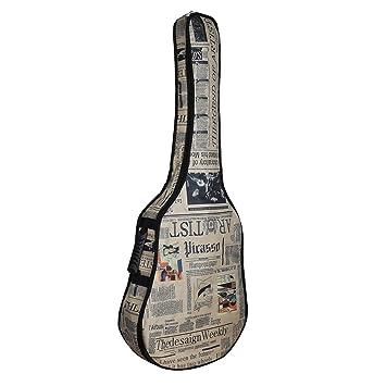 kingtoys® Impermeable Tela Oxford Diario Estilo Correas Acolchadas Bolsa Guitarra Funda para 41/42 Pulgadas Guitarra Clásica Eléctrica