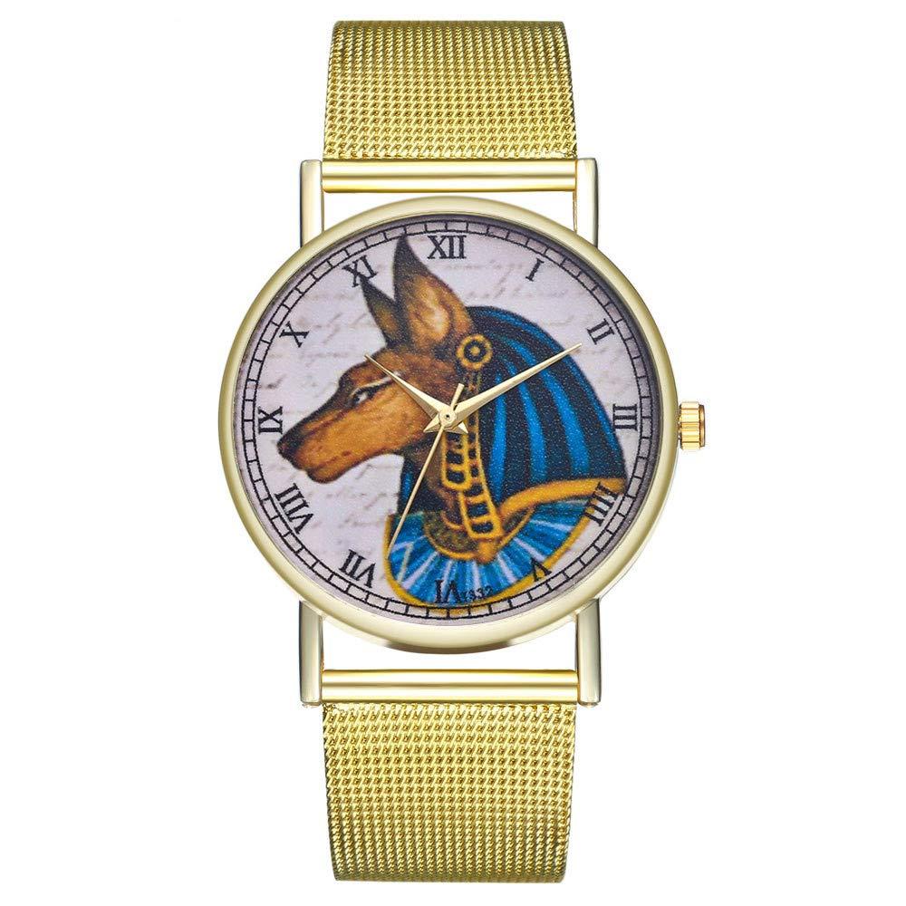Amazon.com: Iuhan Wrist Watches Bracelet for Women Girls Holiday Deals, Luxury Vintage Ladies Round Mesh Strap Watch Quartz Fashion Watch Band Watch ...