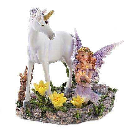 Forest Magic Unicorn Fairy Figurine Home Accent Decor
