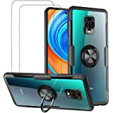 VICEANICS for Xiaomi Redmi Note 9S Case, Redmi Note 9 Pro Crystal Clear Armor Case Cover with Magnetic Finger Ring…