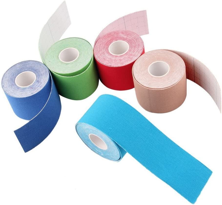 Liobaba Kinesiology Tape-Waterproof Physio Tape for Pain Relief,Therapeutic Elastic Kinesiology Sports Tape,Easy to Use