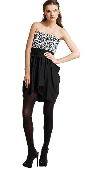 Amazon Alice Olivia Magaret Sequined Strapless Dress Black