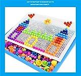 DIY Puzzle Construction Set Toys Baokee@ 296 Tablets Qiaoqiao Variety Mushroom Nail Puzzle Board