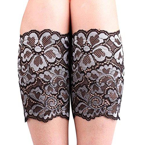 Leg Warmers, Women Stretch Lace Boot Leg Cuffs Soft Laced Boot Socks (Laced Leg)