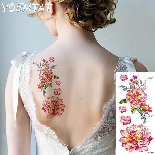 tzxdbh 5 Unids-India árabe Tatuajes temporales Etiqueta roja Rosa ...