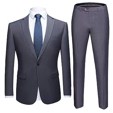 online store c1d0f 3a197 Costume Homme Deux Pièces Élégant Formel Slim Fit Mode Col Châle Business  Mariage Dîner Tuxedo Veste