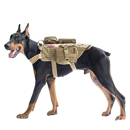 OneTigris Chaleco arnés para perro con bolsillos, mediano, Dog ...