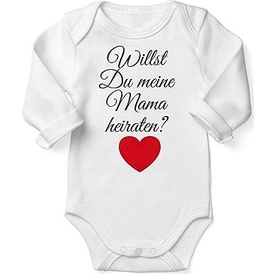 Handmade with Love Mikalino Babybody mit Spruch f/ür Jungen M/ädchen Unisex Langarm Mamas Milch Vampir handbedruckt in Deutschland