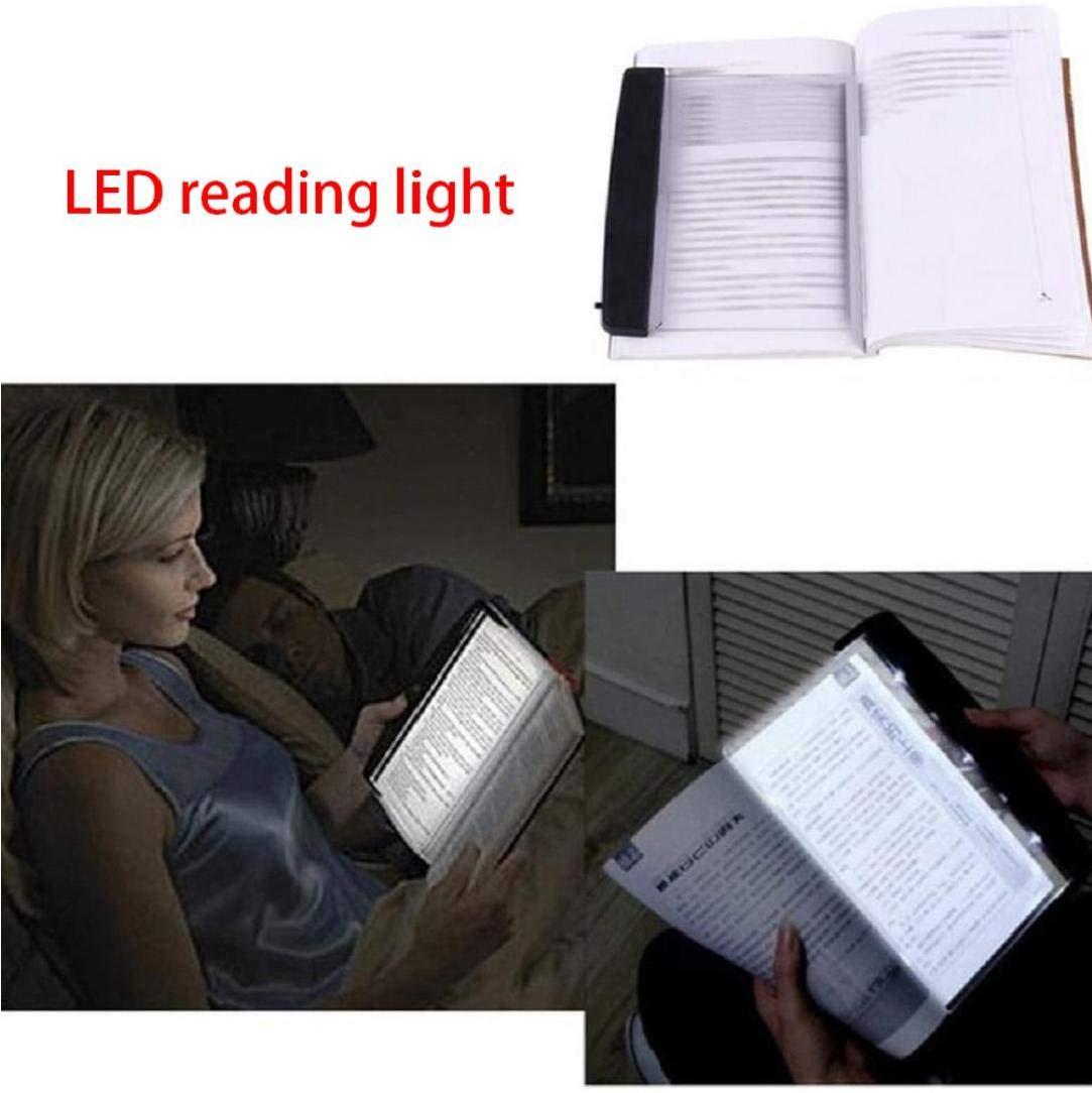 Lettura Flat Light libro di illuminazione della targa a LED libro di lettura di notte della lampada Occhi Protect per lettura di notte