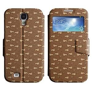 LEOCASE cerdo lindo Funda Carcasa Cuero Tapa Case Para Samsung Galaxy S4 I9500 No.1006552
