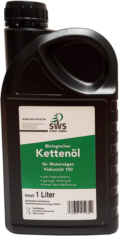 Aceite biológico para cadenas de motosierra, 100 bidones de 1 litro