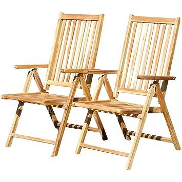 ASS Doppelpack 7 Fach Verstellbarer Gartenstuhl Hochlehner Klappbar  Verschiedene Modelle Aus Teak U0026 Eukalyptus Holz