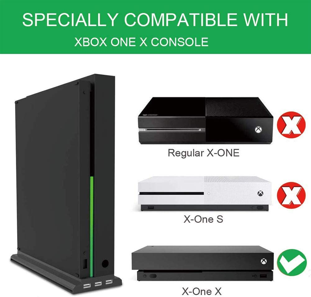 1245/5000 Xbox One X Cooling Fan Vertical Stand Cooler Estación De ...