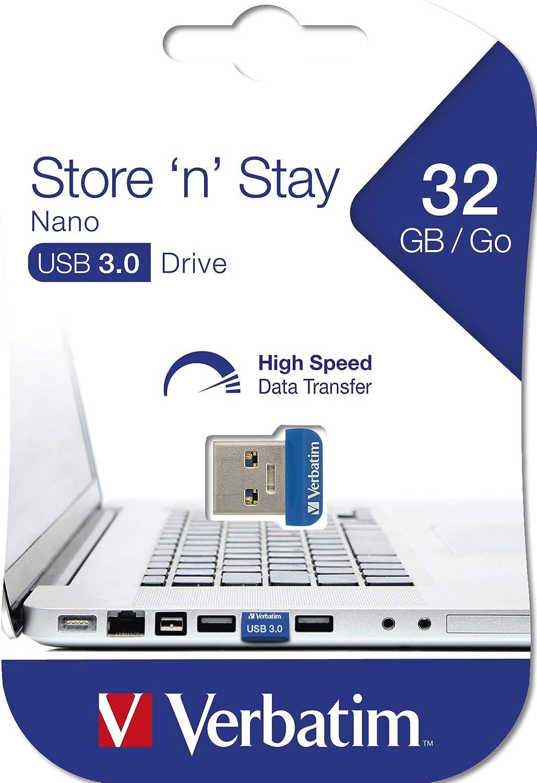Black Verbatim 32GB Store n Stay Nano USB Flash Drive