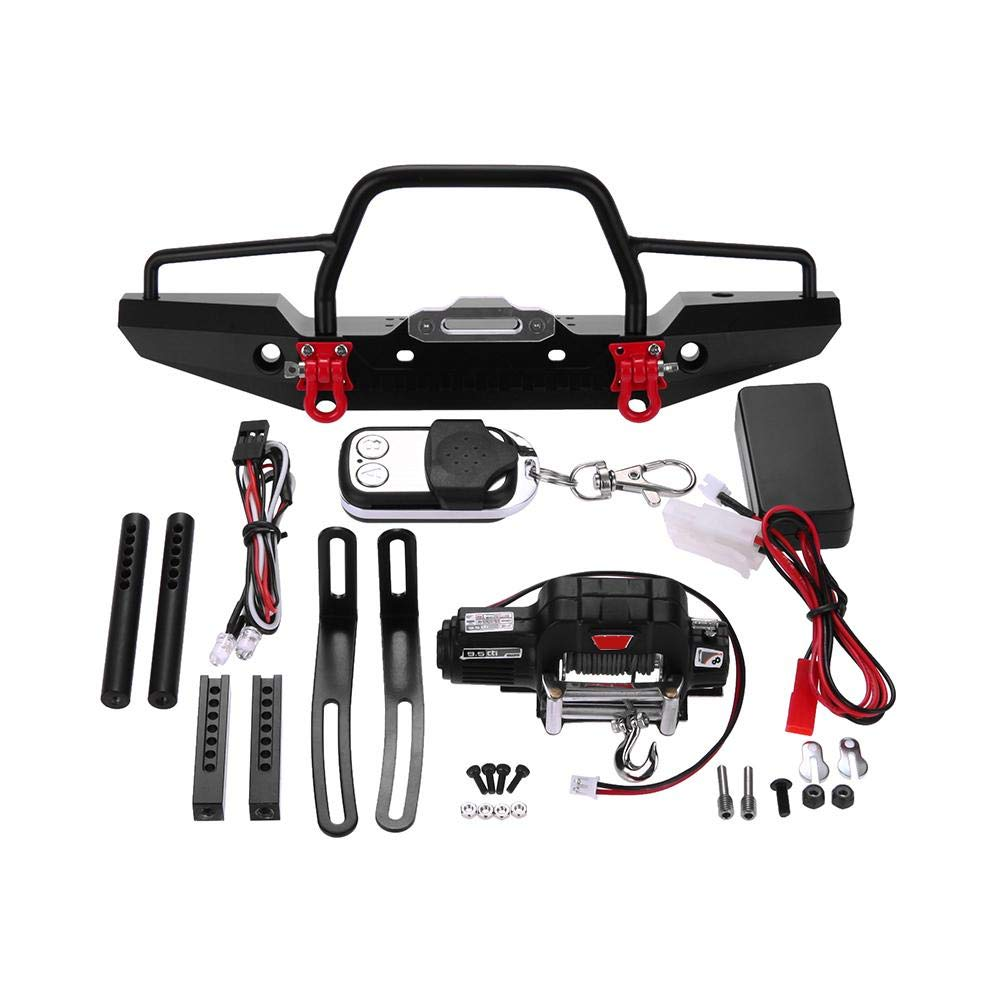 RC Front Bumper Kits, Bright LED Lamp Winch Controller Kit for RC TRAXXAS TRX-4 Car