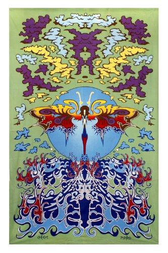 Sunshine Joy Waterfly Tapestry Beach Sheet Hanging Wall Art Huge