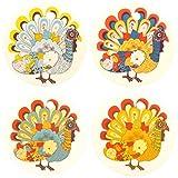 Set of Four Thanksgiving Turkey Air Fresheners, Cedarwood Essential Oil