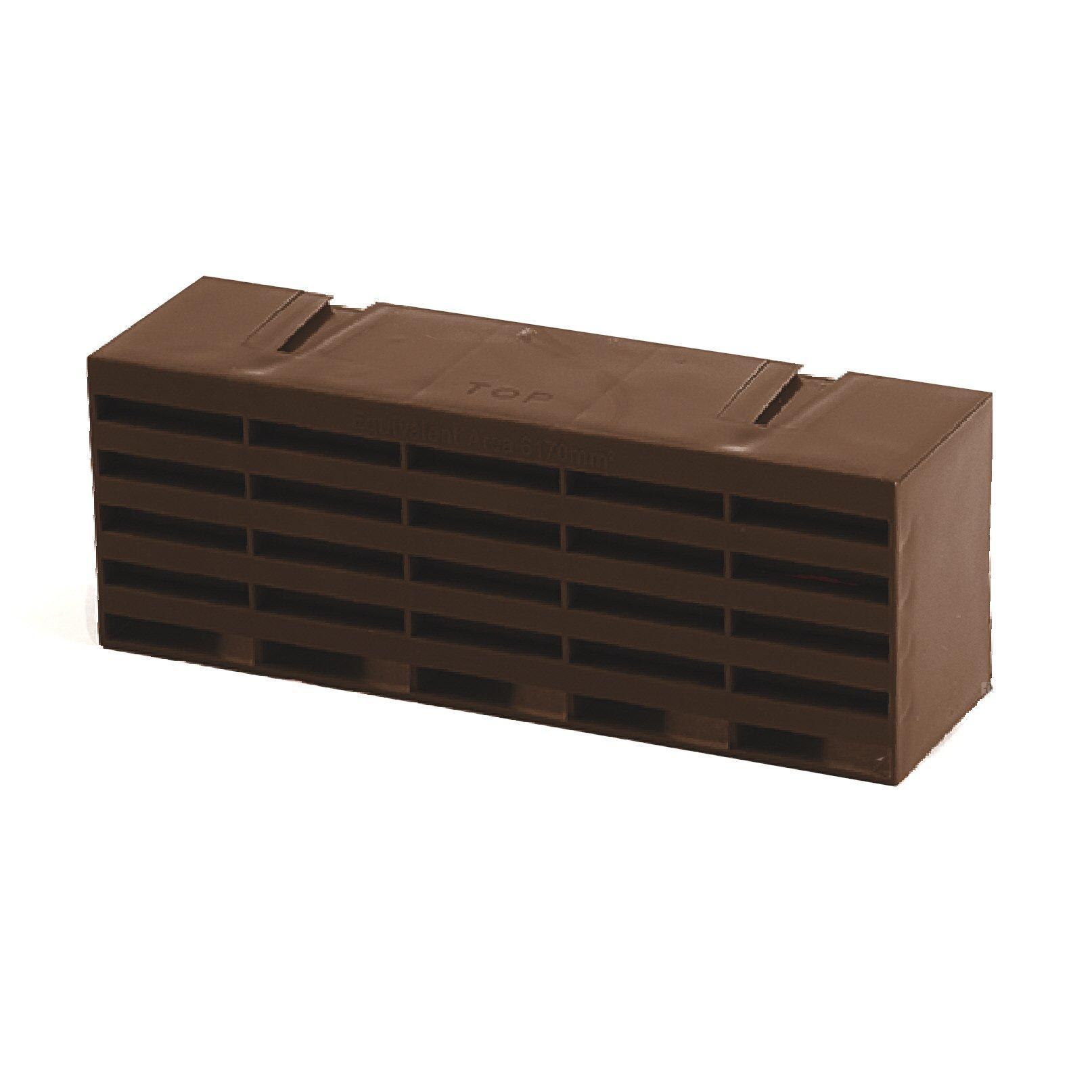 5 x Brown Air Bricks Vent 9''x 3'' Airbrick Grille Air Flow Brick Ventilation