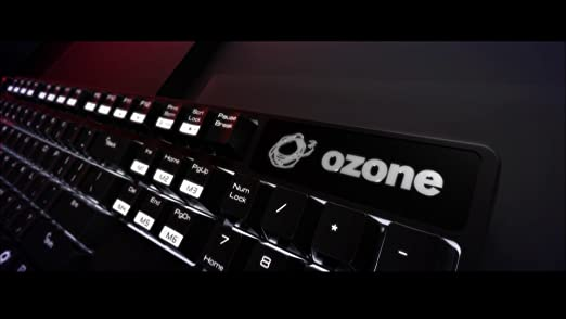Ozone Strike Pro Gaming - Teclado, Negro -Teclado QWERTZ Alemán