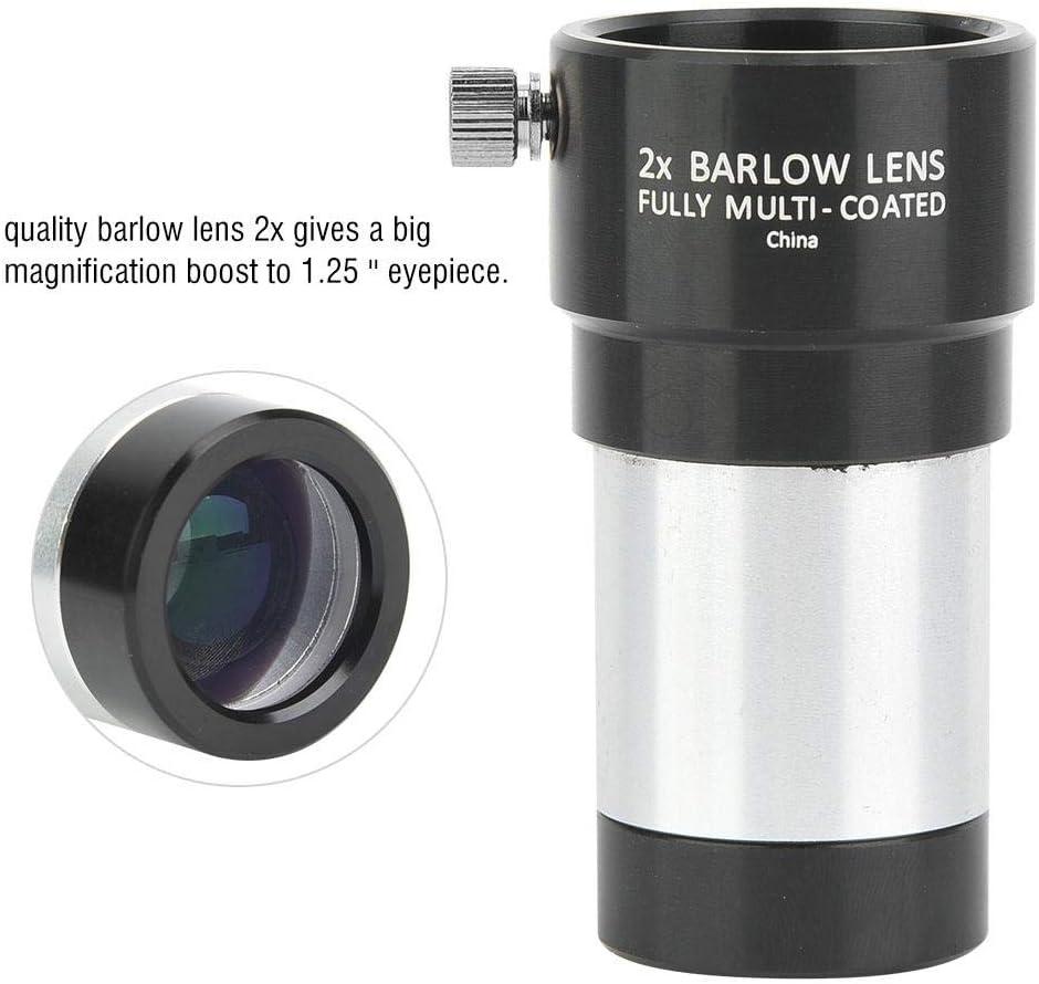 Qiterr 2X Teleconverter Barlow Lens 1.25 Inch 2X Barlow Lens for Astronomy Telescope Monocular Eyepiece 31.7mm