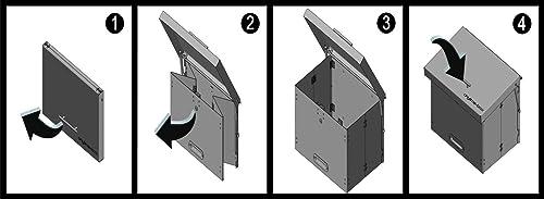 Funktionsweise des ausklappbaren Paketbriefkastens anytime-box