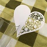 baskuwish Cup Card,10pcs Hot Creative Heart Shaped