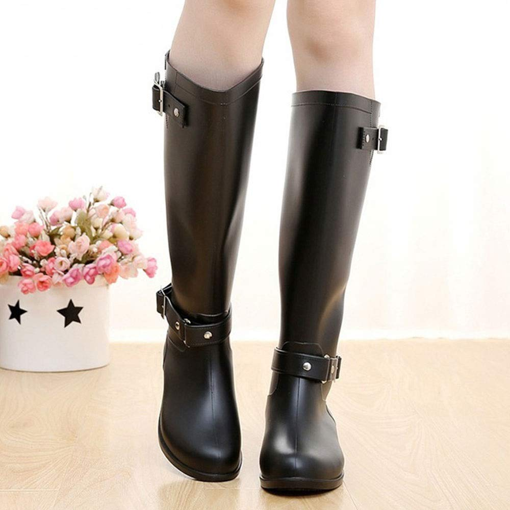Long Zipper high Heel Acid and Alkali Waterproof Non-Slip Boots FXNN Rain Boots
