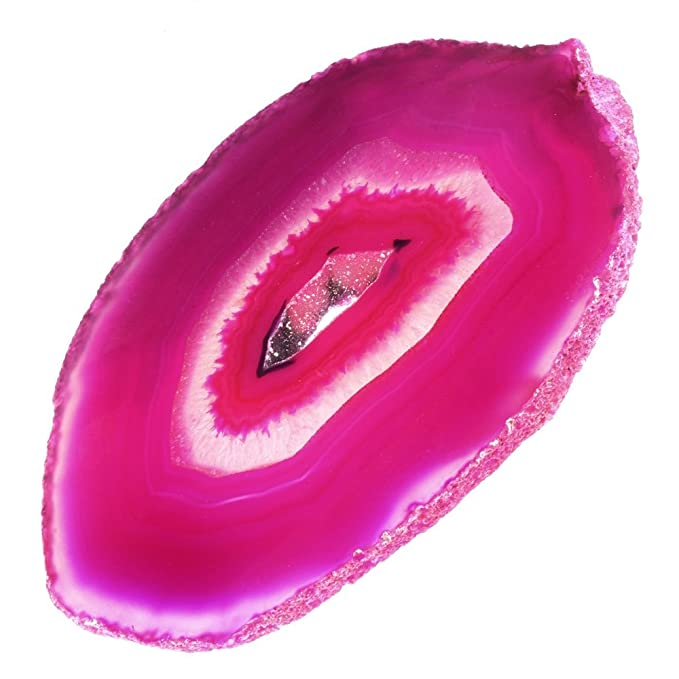 Amazon.com: CrystalAge Agate Slice Pink - Large: CrystalAge: Toys & Games
