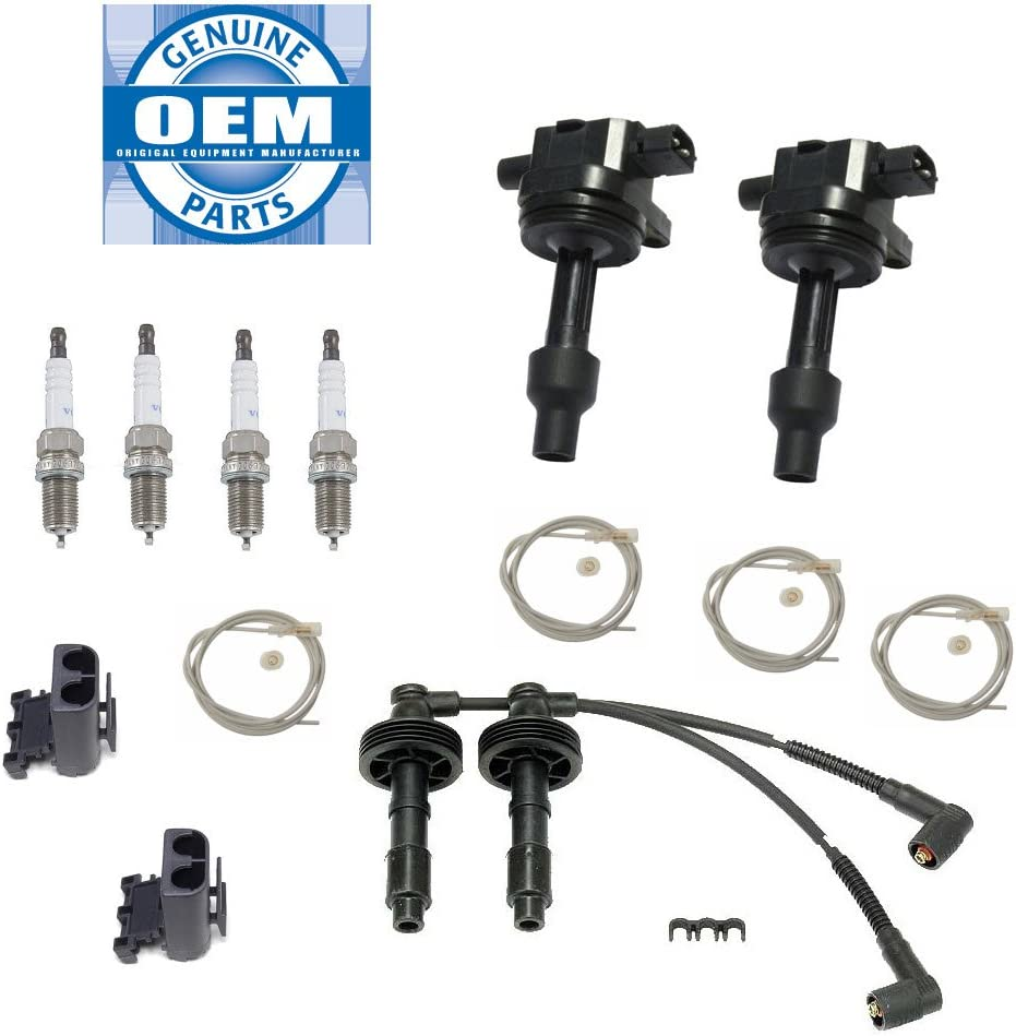 2 Wires Spark plugs Volvo S40 V40 2000-2004 Ignition Kit Includes 2 Coils Coil Harness Repair