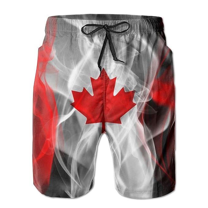 4dc62d22bc NIBCX-K Canada Men's Quick Dry Beach Board Shorts Summer Swim Trunks |  Amazon.com