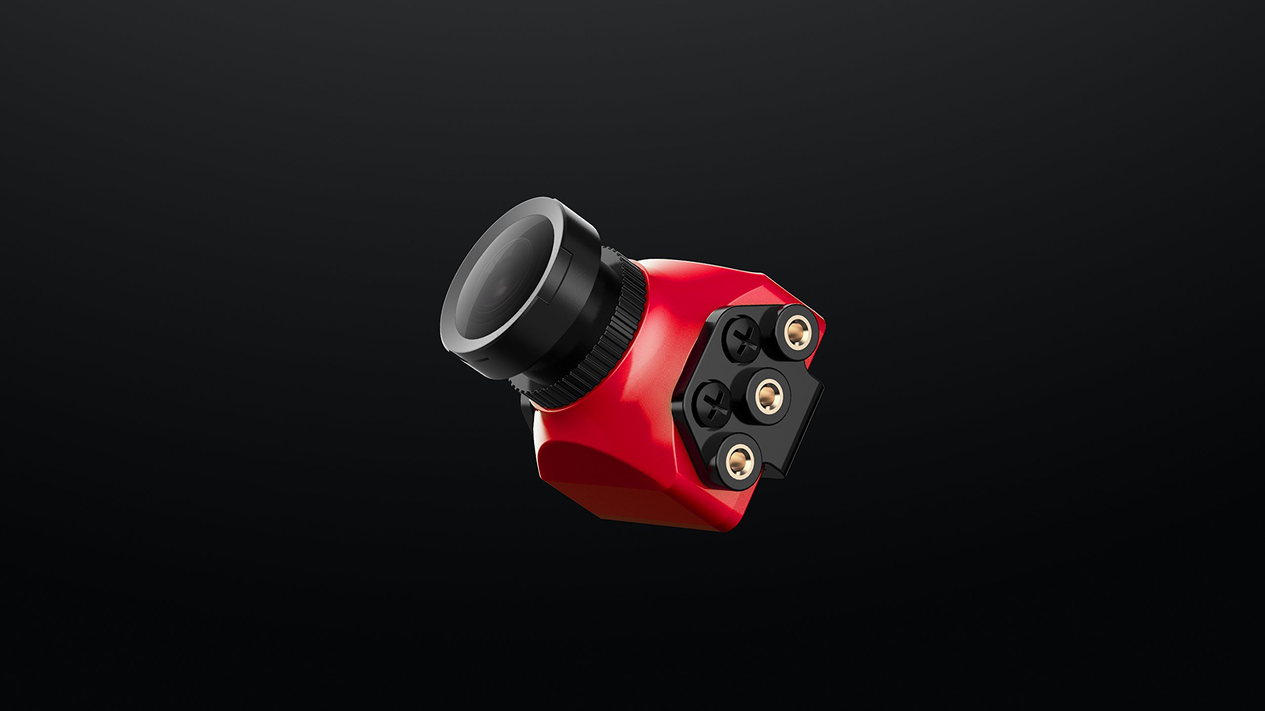 Foxeer 16:9 Widescreen 1200TVL 2.5mm Monster Mini Pro WDR FPV Camera - Red by Foxeer