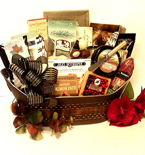 Fancy Foods Gourmet Gift Basket (Golden Luxuries by Goldspan Gift Baskets)