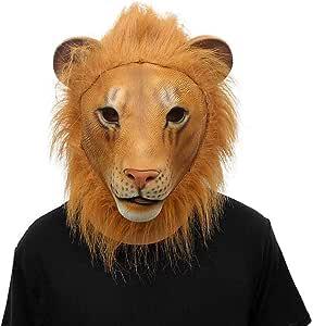 MA87 Máscara de león para Cosplay, máscara de látex, Disfraz ...