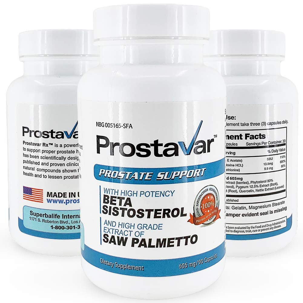 Prostavar  Prostate Support with Saw Palmetto 605mg - 630 Capsules - 7 Month Supply