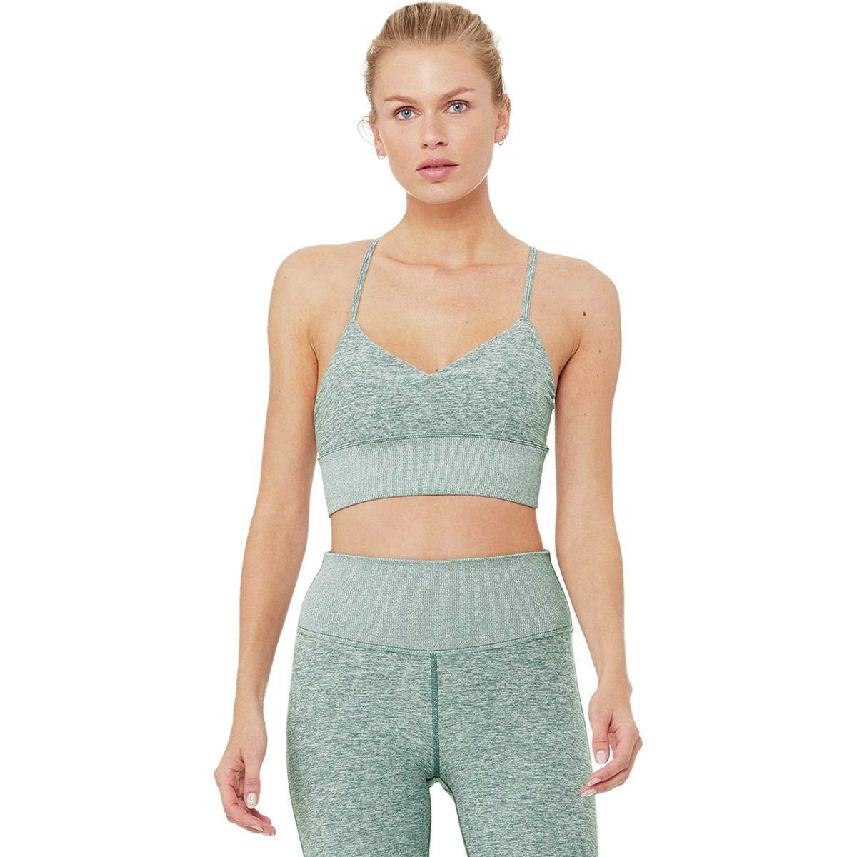 d50d177348f87 Alo Yoga Alosoft Lush Bra - Women s Seagrass Heather