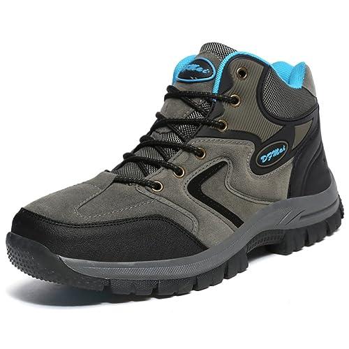 7a7c559ff1641 GOMNEAR Zapatillas Botas de Montaña Hombre Resistente Al Agua de Invierno  para Senderismo