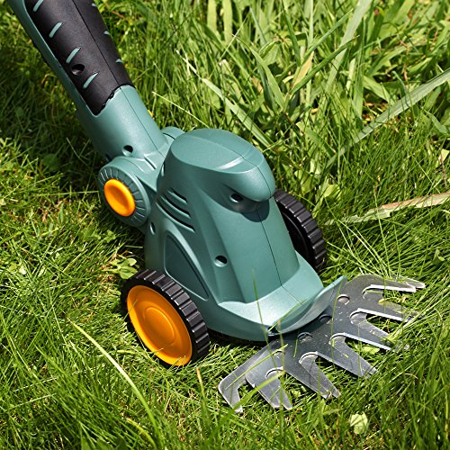 Garden Power Tools 10.8V Rechargeable battery Cordless Hedge Trimmer Grass Trimmer Lawn Mower with handle and wheels ET1007 by Generic