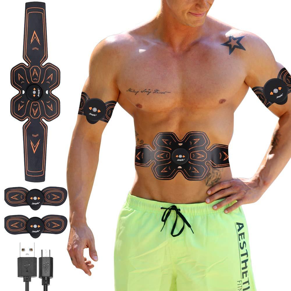 Jaspik EMS Muskelstimulation Elektromuskelstimulation ABS Muskelstimulator Schnell und effektiv Muskeln aufbauen