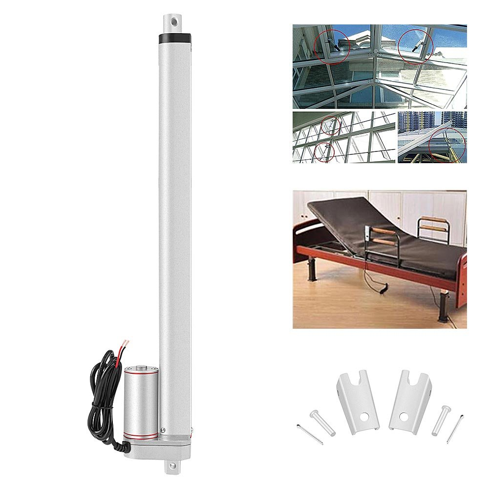 Linear Actuator 16 DC 12V Linear Actuator 750N Max Lift 400mm Stroke Electric Motor