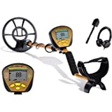 Nalanda 18 kHz Metal Detector with 5 Detection Modes, Outdoor Gold Digger Handheld Metal Finder with Adjustable Sensitivity Waterproof Search Coil LCD Display (Earphone and Foldable Shovel Included)