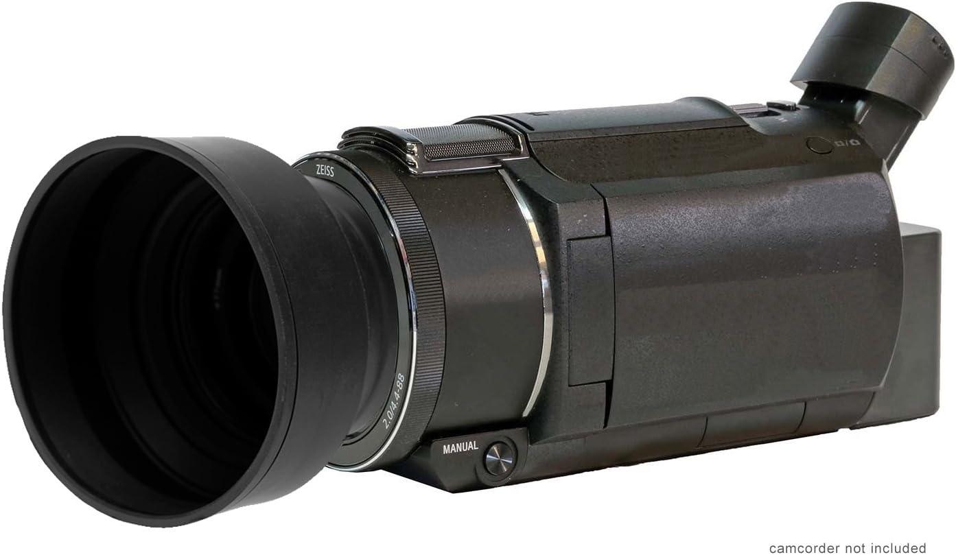 Rubber Collapsible Design Panasonic HC-VX981K Digital Lens Hood 49mm