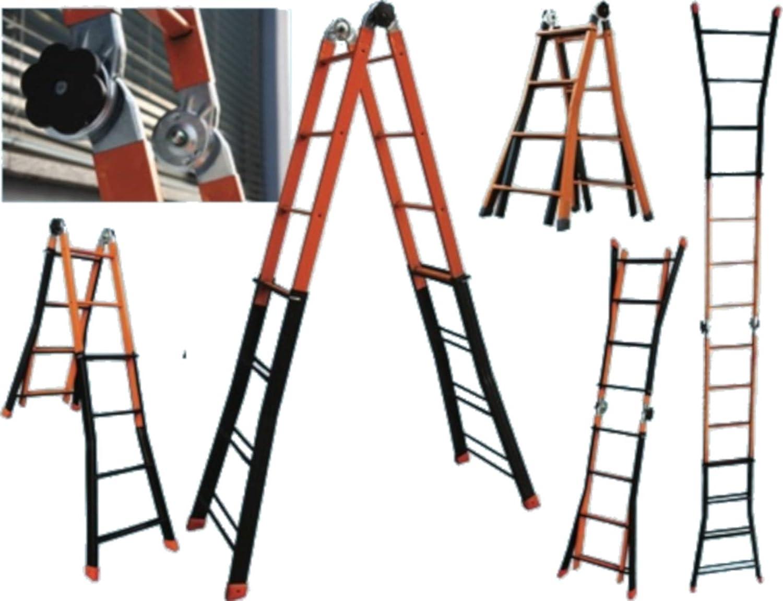 Escalera Telescópica Acero jirafa: Amazon.es: Bricolaje y herramientas