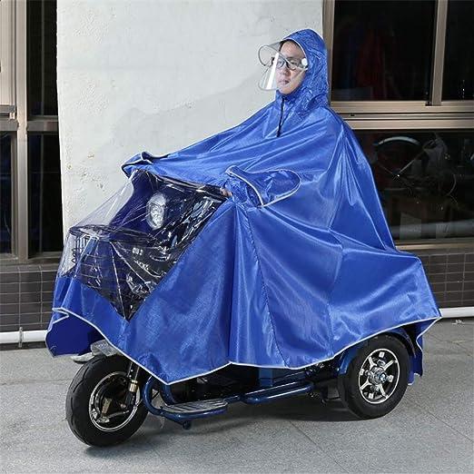 Electric Bike Raincoat,Motorcycle Poncho Waterproof Mobility Scooter Rainwear Rain Cape Jackt Cover,Universal Weatherproof Rain Gear for Men Women